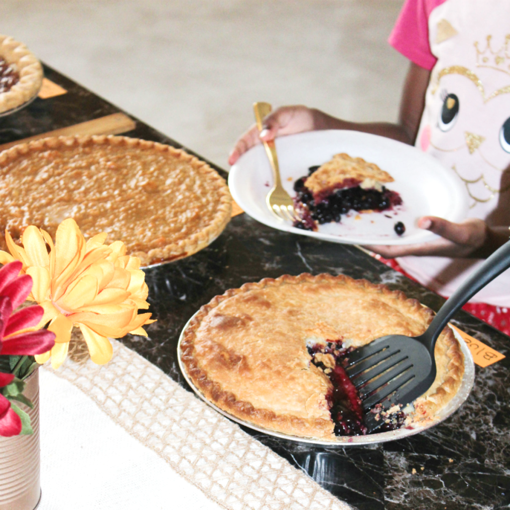 Pie Party - Blueberry Pie Slice - At Home With Zan