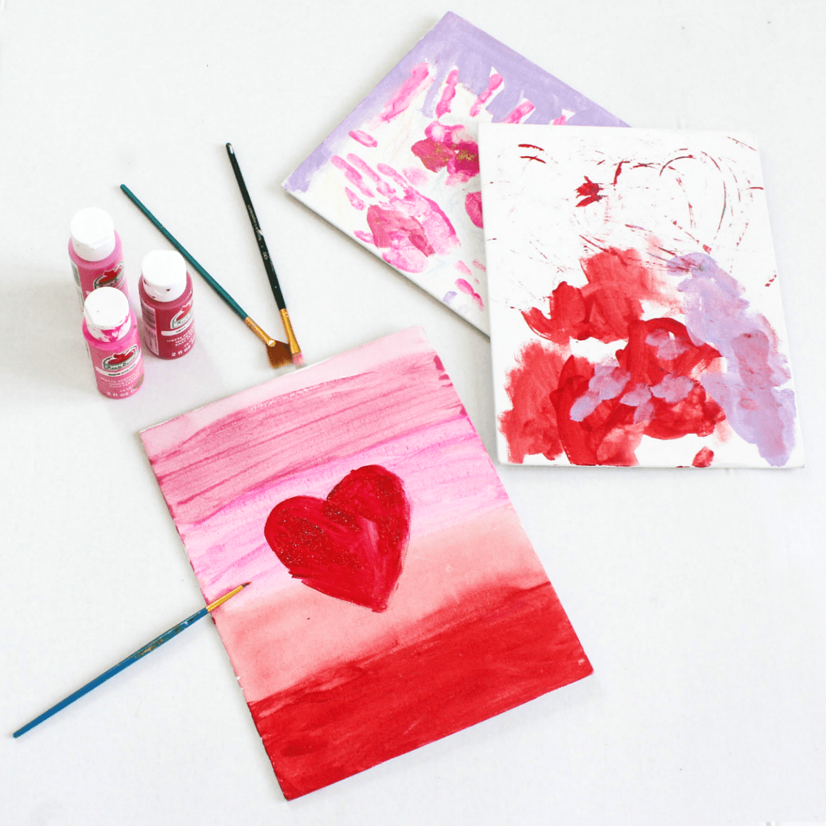 Diy Canvas Painting Activity For Toddlers Through Kindergarten At Home With Zan