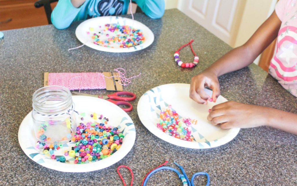 DIY Beaded Necklaces and Bracelets - Valentines - At Home With Zan -