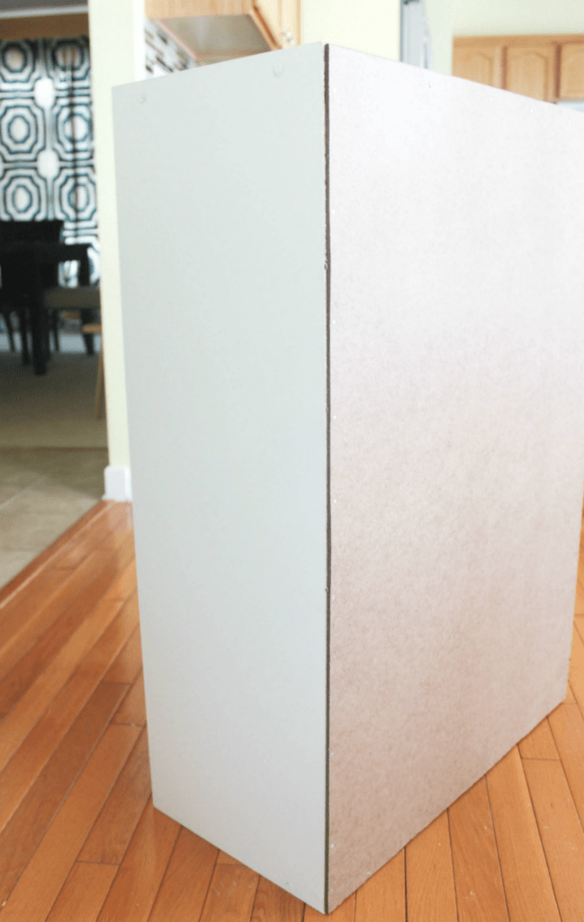 How to Restore a Broken Bookshelf - Cardboard Backing - Nails - At Home With Zan