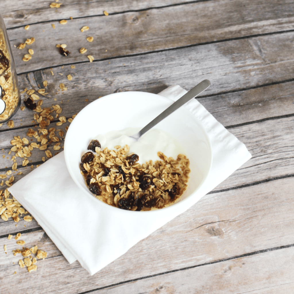 Homemade Granola - With Dried Cranberry - Kid Friendly - From At Home With Zan