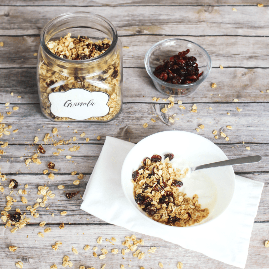 Homemade Granola - With - Oats and Dried Cranberry - Kid Friendly - At Home With Zan-