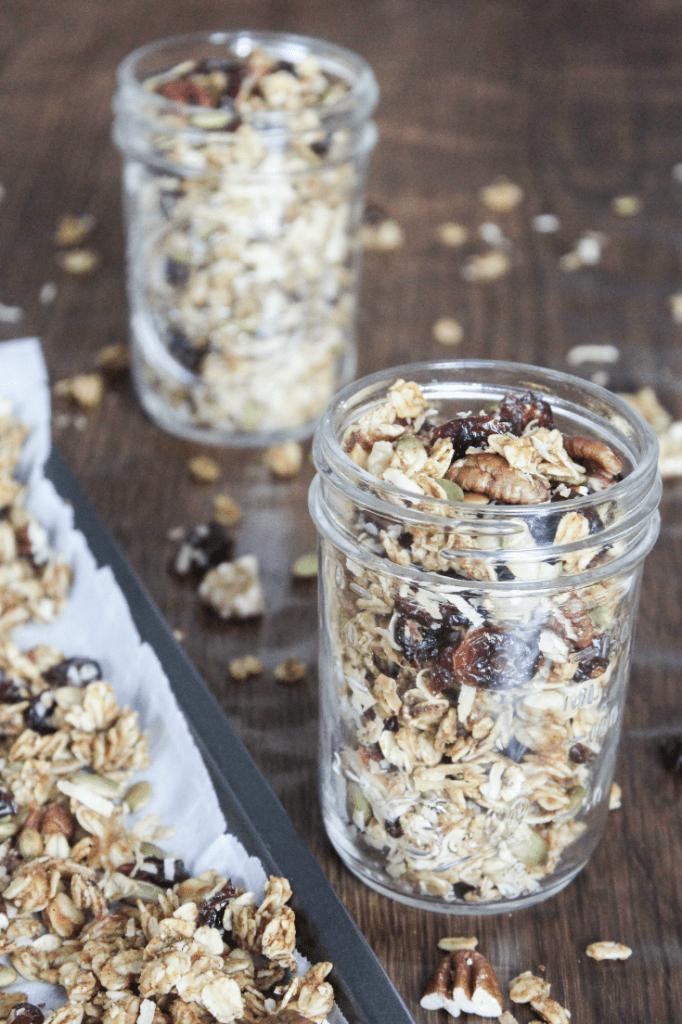 Fall Granola Recipe - Autumn Granola Mix - Harvest Granola Mix - Nuts - Oats - Seeds - Healthy Granola Mix - At Home With Zan