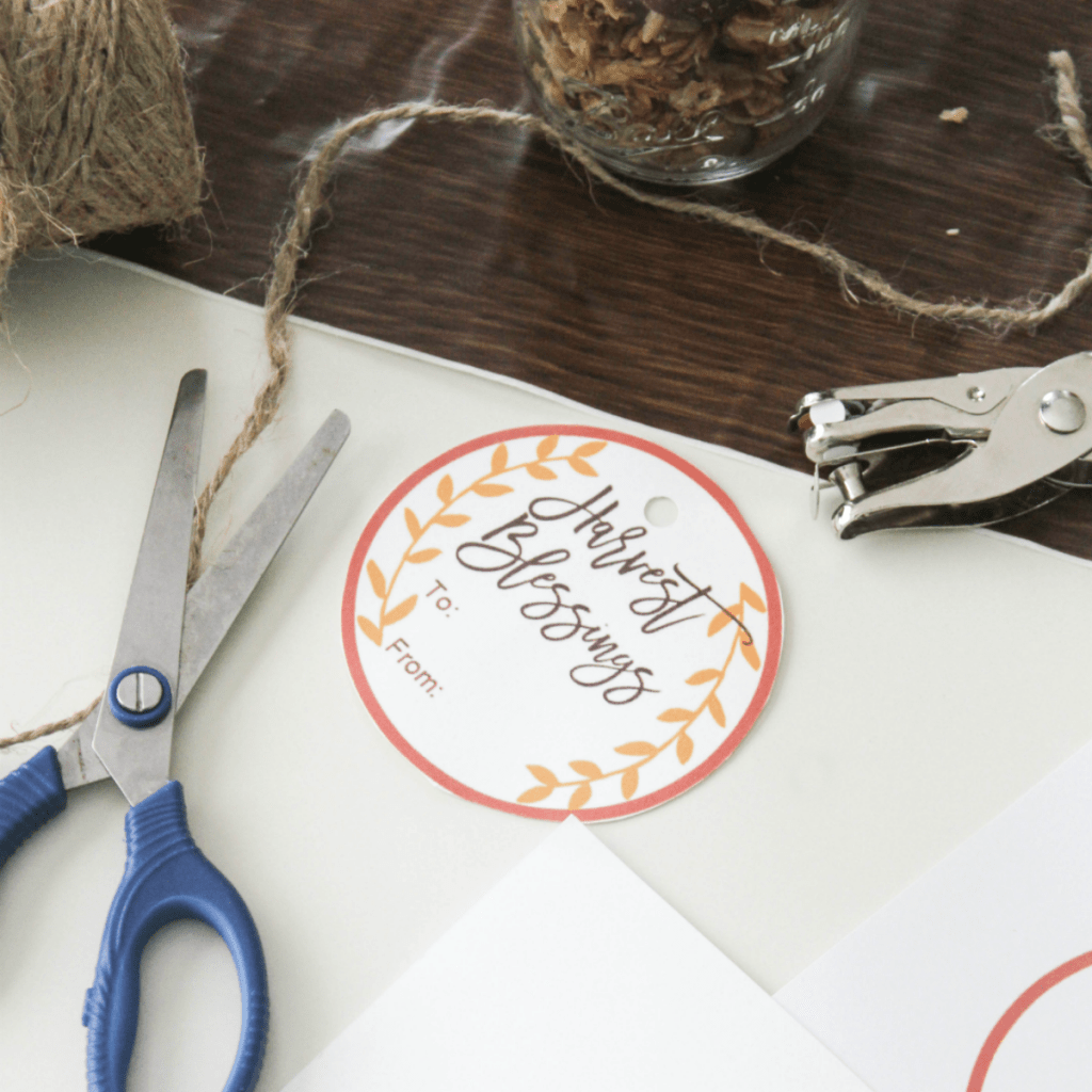 Free Fall Gift Tags - Harvest Blessings - Bountiful - Harvest Blessings - Blank Tags - At Home With Zan