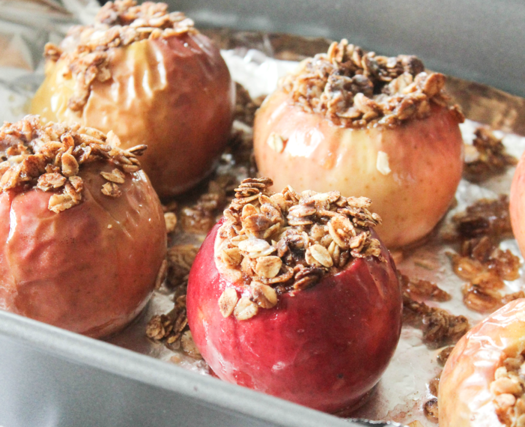Baked Apples With Oatmeal Topping - At Home With Zan-