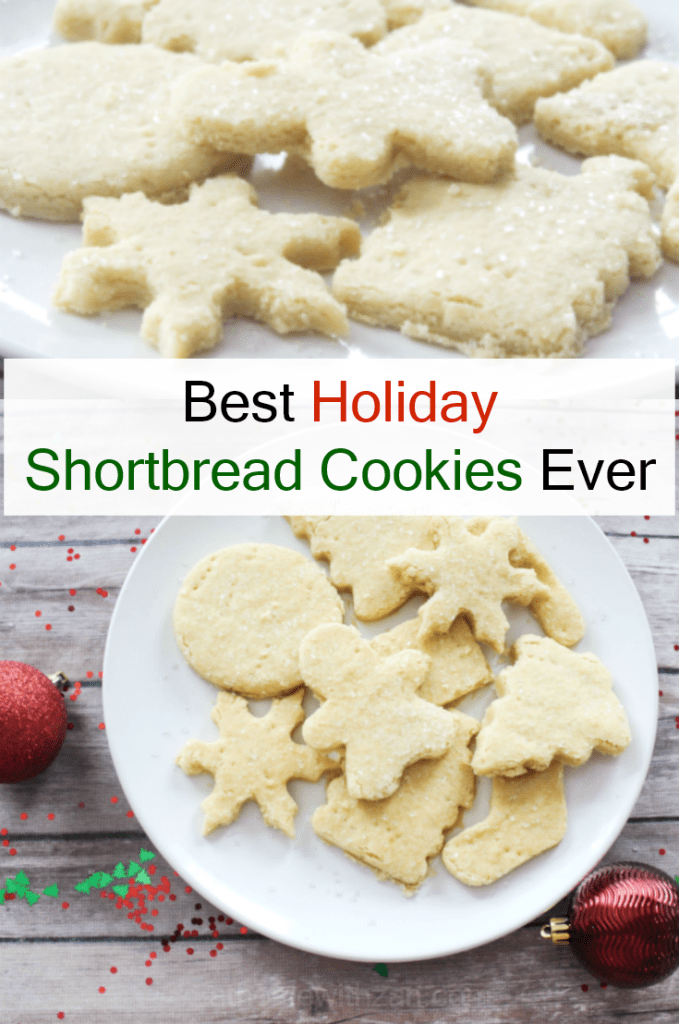 Best Holiday Shortbread Cookie Recipe Ever - At Home With Zan