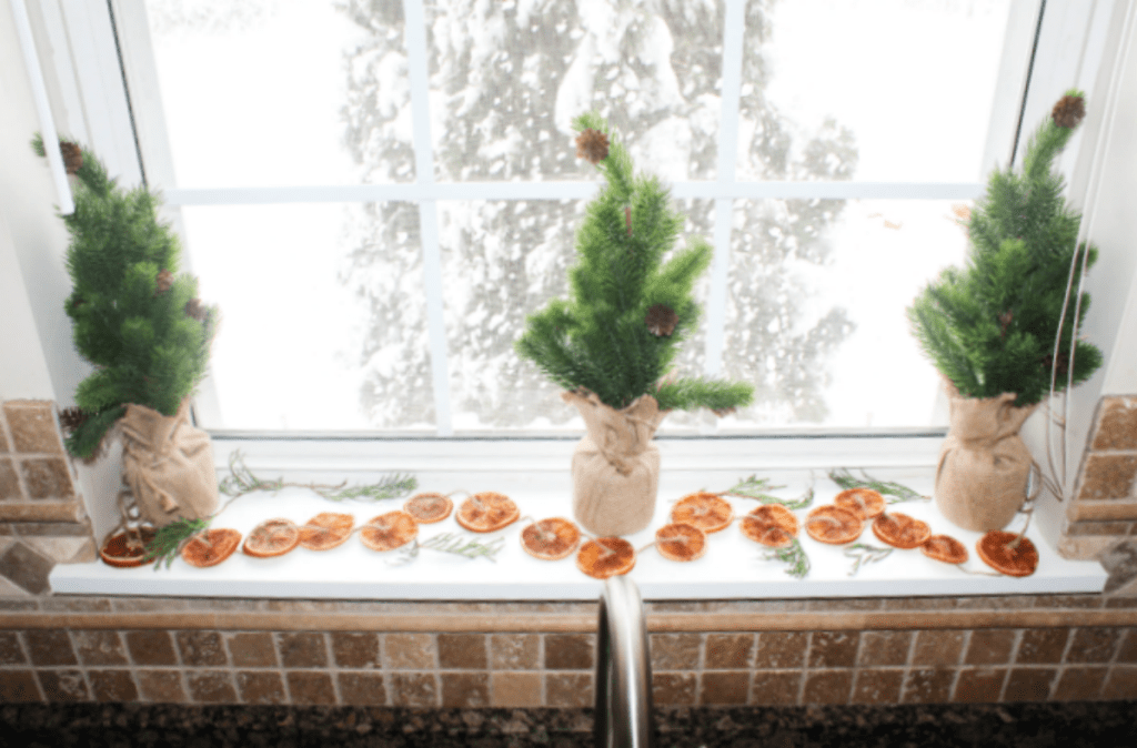 Dried Orange Slices - Made with Cinnamon - Holidays -Holiday Kitchen Sink Decor - From At Home With Zan