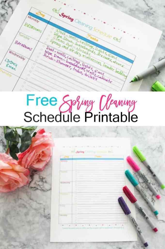 Free Spring Cleaning Printable