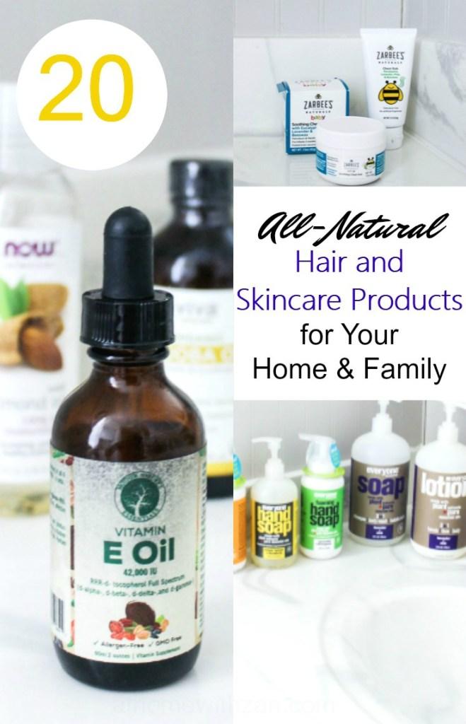 skincare haircare all-natural