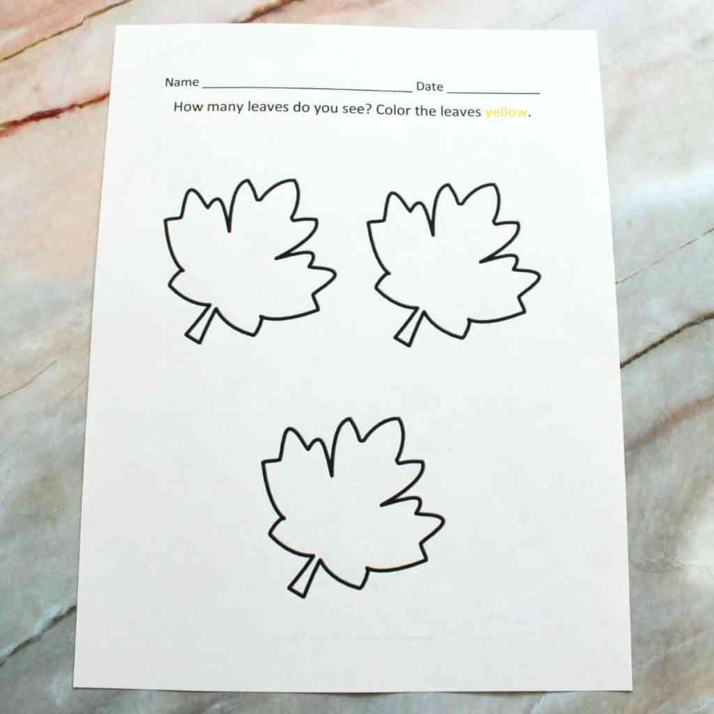 preschool fall printables