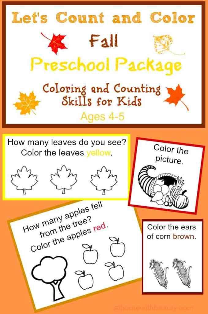 fall printable preschool