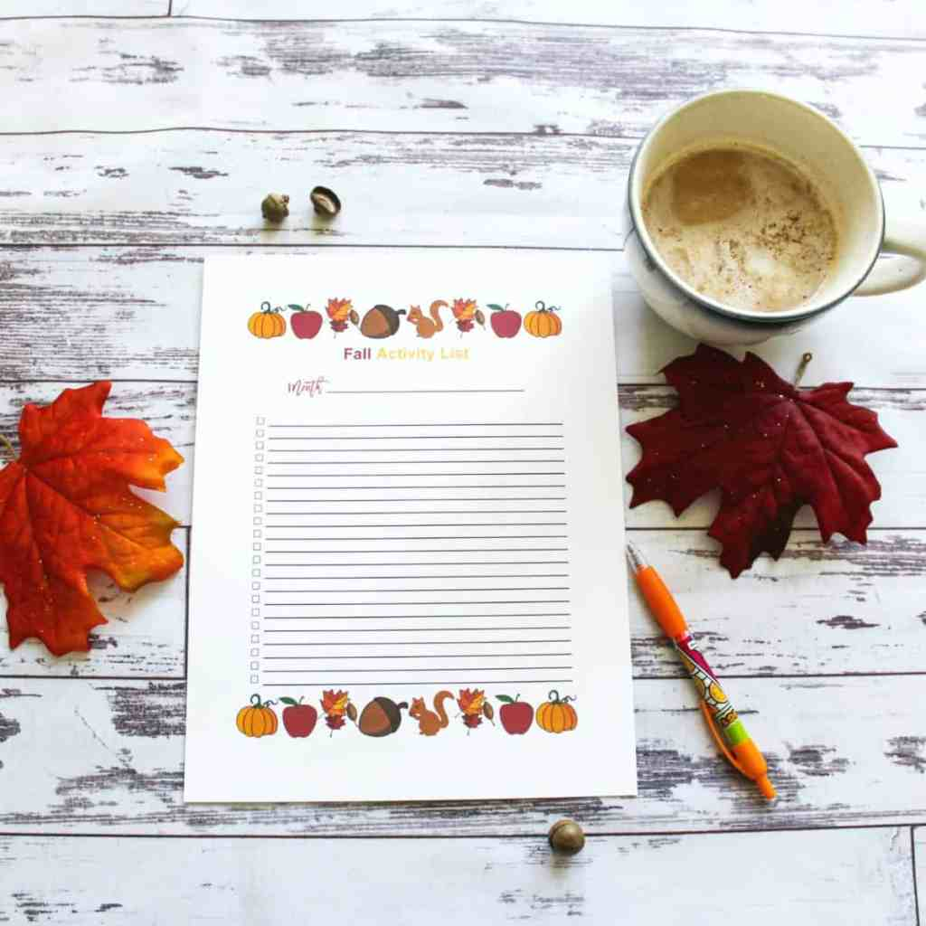 Fall Activity Printable