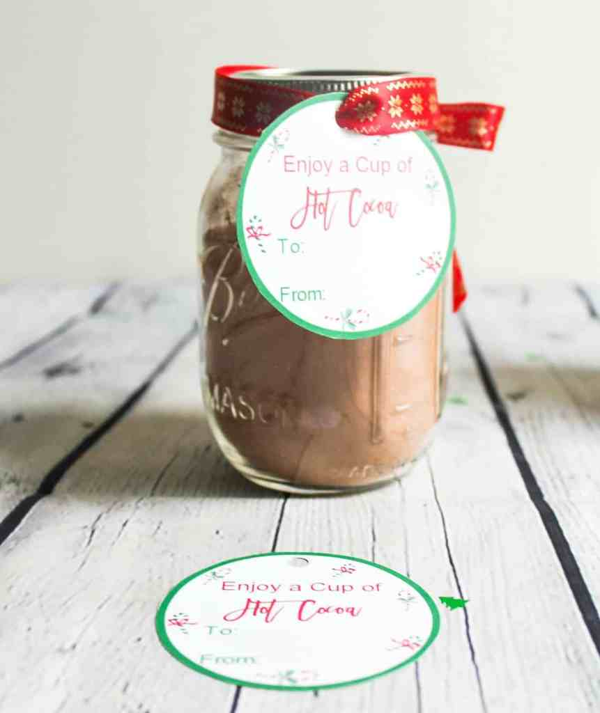 hot cocoa gift tags