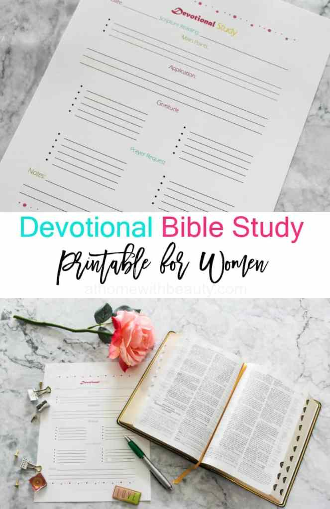 Bible Study Printable for Women