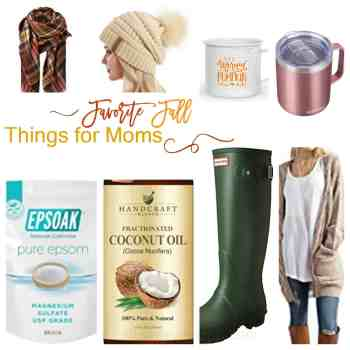 Favorite Fall Things for Moms - Hunter Boots - Cardigan - Beanie Hat - Blanket Scarf - Coffee Mugs - athomewithzan.com