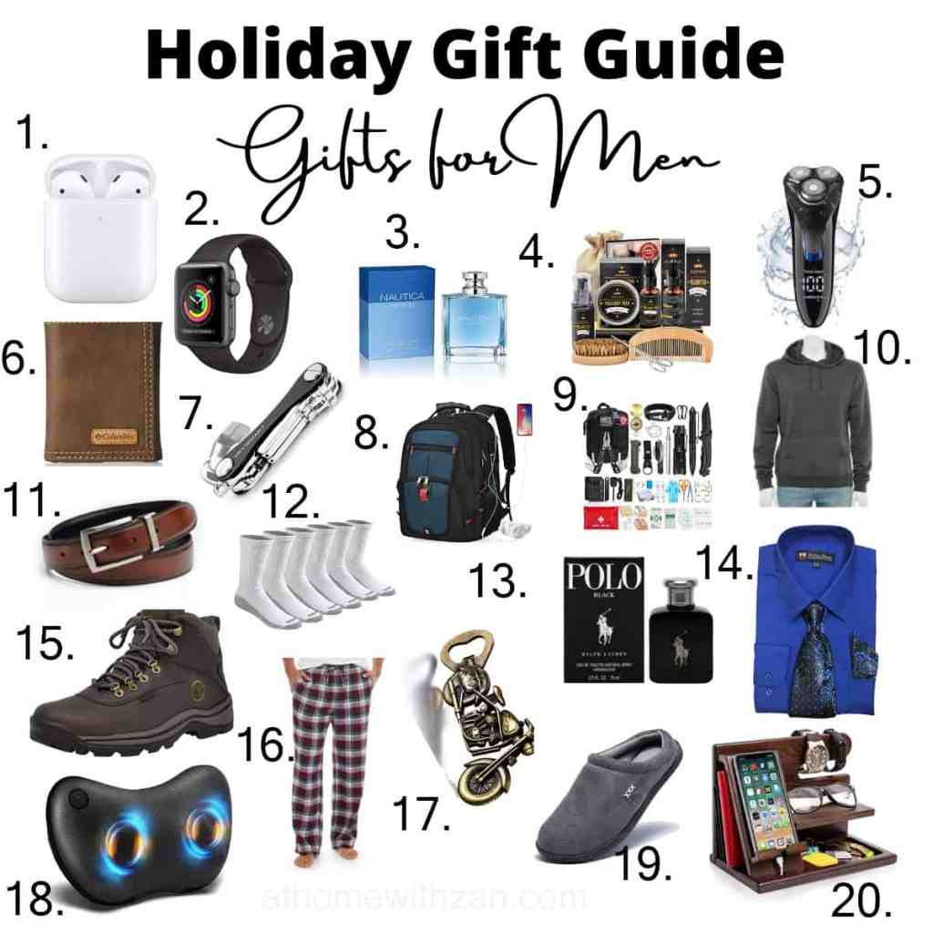 Gifts for Men - Holiday Gift Guide for Men - Gift Ideas for Men - Gifts for Dads - Gifts for Sons - Gifts for Husbands - Pinterest -Gifts for Him - Christmas Gifts for Men - athomewithzan (1)