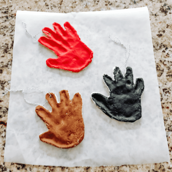 Salt Dough Handprinted Ornaments - Salt Dough Christmas Ornaments - athomewithzan.com