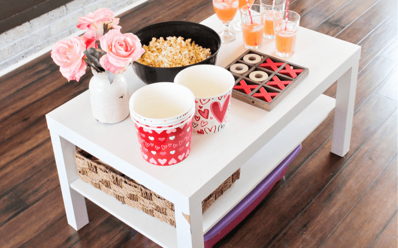 Valentine's Day Popcorn & a Movie at Home