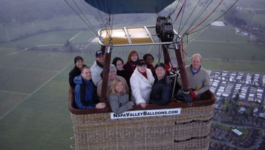 Napa Valley, CA Hot Air Balloon Ride