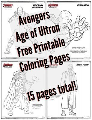 avengers age of ultron free printable coloring pages including