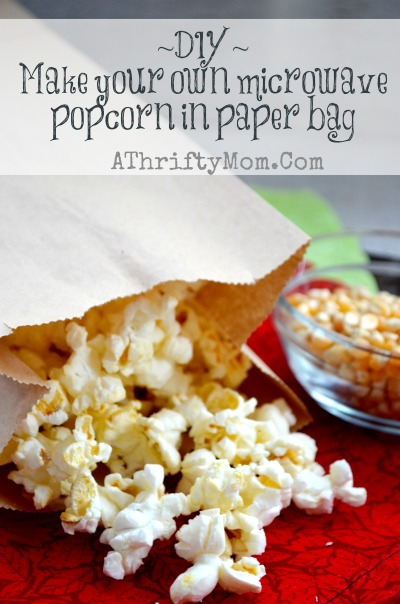 bulk popcorn in a paper bag