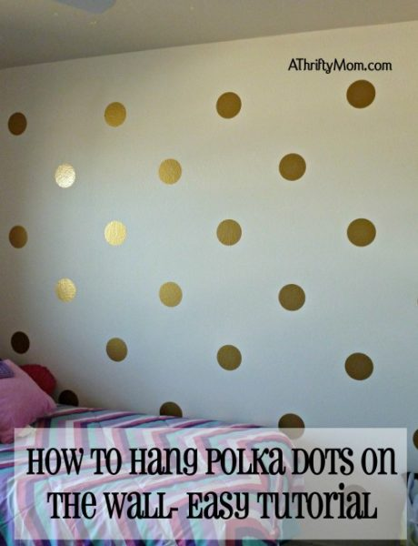 Easy Tutorial How To Hang Polka Dots On The Wall Evenly
