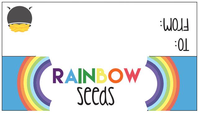 St Patricks Day Free Printable Rainbow Seeds