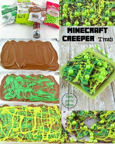 Minecraft Party Ideas Minecraft Creeper Treat Recipe