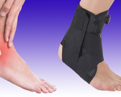 foot and ankle pain and boa ankle brace