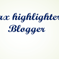 How to add syntax highlighter in Blogger.