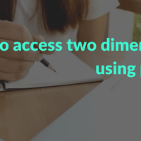 How to access two dimensional array using pointers in C