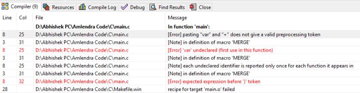 token Pasting operator