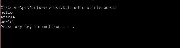 command line argument batch file