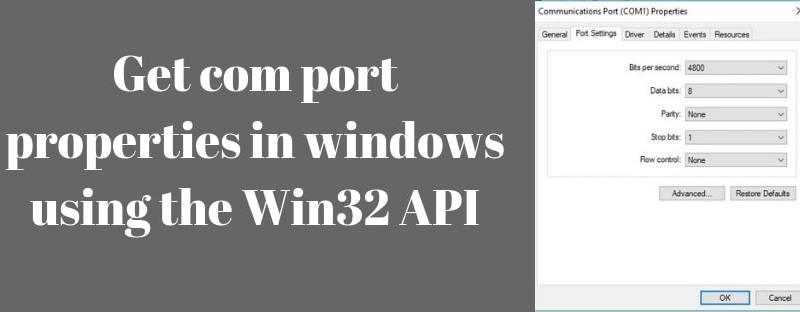 Get com port