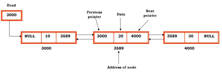 double linked list