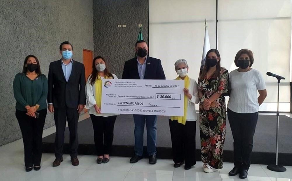 Bancada Naranja apoya a Centro de Educación de Cadereyta, Nuevo León