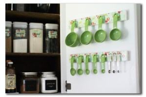 More baking cupboard organization: measuring cups & spoons