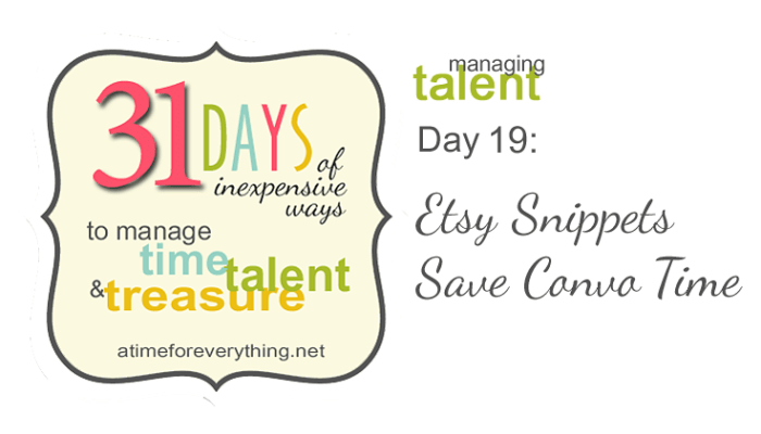 31 Days 19 Etsy Snippets