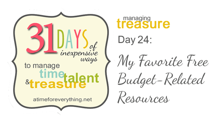 My Favorite No-Cost Budgeting Resources