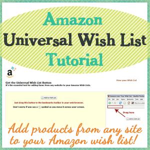 Amazon Universal Wish List Tutorial