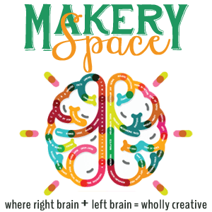 Makery Space icon with logo and tagline