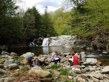 VT retreat - waterfall journaling