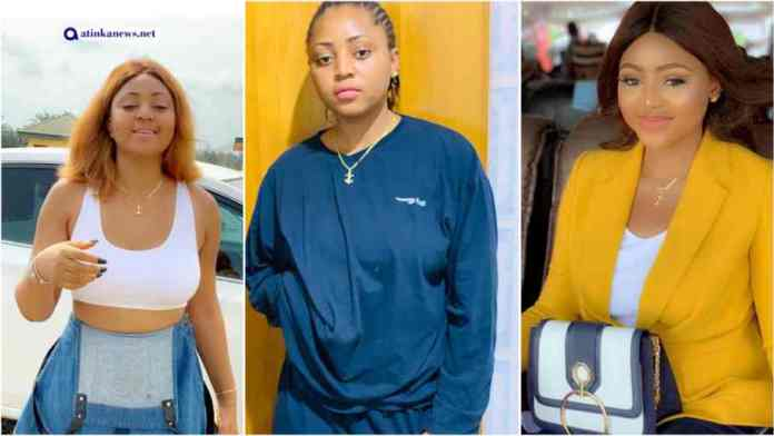 Actress Regina Daniels shows off belly to prove she's not pregnant