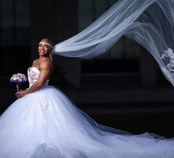 Female Bodybuilder Flaunts Her Muscles In Wedding Dress As She Ties Knot With Fiance