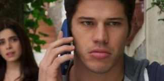 Adônis (José Loreto) será flagrado por Shirlei (Sabrina Petraglia)