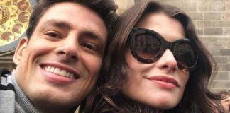 Cauã Reymond e Alinne Moraes nos bastidores de 'Um Lugar ao Sol'