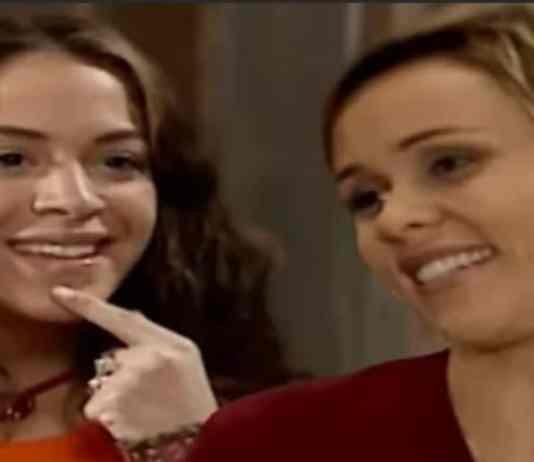 Vidinha (Júlia Almeida) e Heloísa (Giulia Gam) em 'Mulheres Apaixonadas' (Canal Viva)