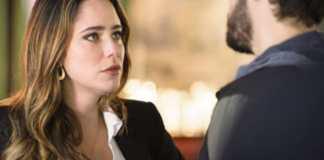 Bruna (Fernanda Vasconcellos) e Giovanni (Jayme Matarazzo) em 'Haja Coração' (Globo)