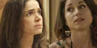 Shirlei (Sabrina Petraglia) e Carmela (Chandelly Braz) em 'Haja Coração' (Globo)