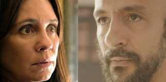 Thelma (Adriana Esteves) e Álvaro (Irandhir Santos) em 'Amor de Mãe' (Globo)